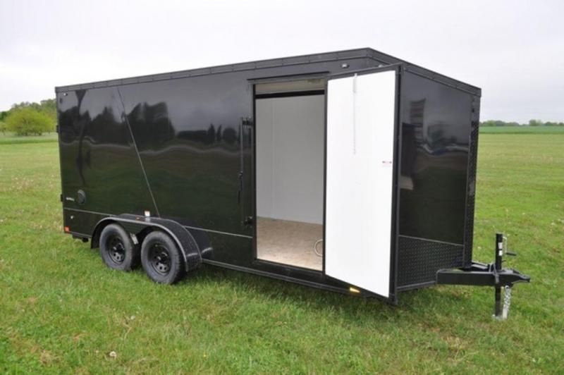 2020 Stealth 7 x 16 Black Out Motorcycle Trailer For Sale