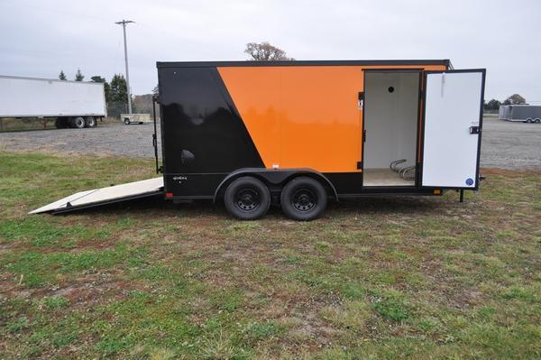 2021 Stealth Trailers 7 x 14 Low Profile Two Tone Enclosed Motorcycle Trailer For Sale