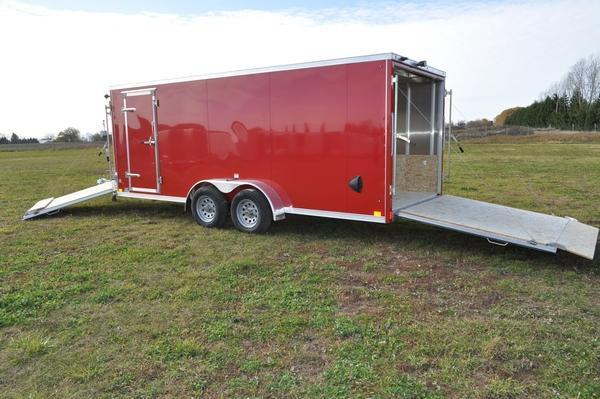 2021 Haul-it All Aluminum 7 x 23 Inline Snowmobile Trailer For Sale