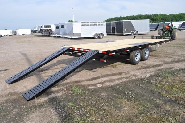 2021 Sure-Trac 8.5 x 20 Low Profile Flat Deck Deckover Trailer For Sale