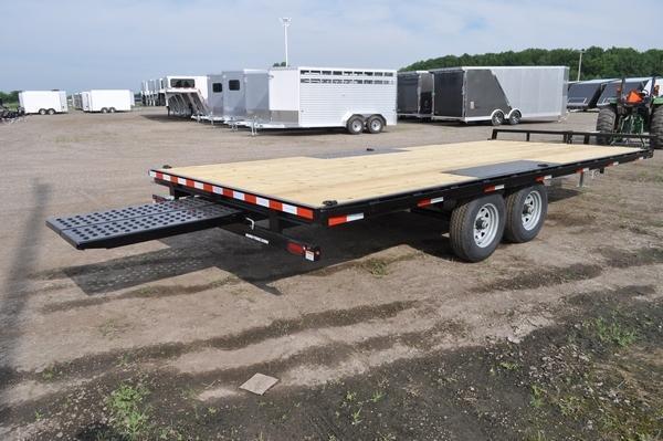 2021 Sure-Trac 8.5 x 20 Low Profile Flat Deck Deckover Trailer For Sale