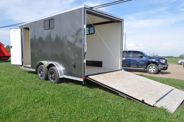 2021 Haul-it 7.5 x 16 Wedge Nose Enclosed Cargo Trailer W/7' Interior For Sale