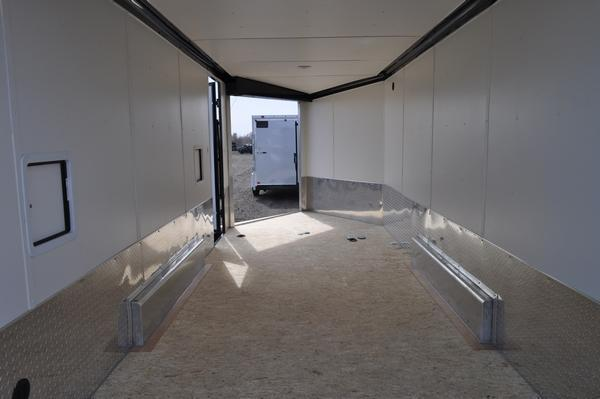 2022 Haul-it 7.5 x 23 All Aluminum Blacked Out Drive On/Off Snowmobile Trailer For Sale