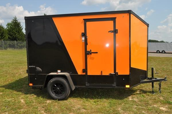 2021 Stealth Trailers 6 x 10 Wedge Nose Blacked Out!! Motorcycle Trailer For Sale
