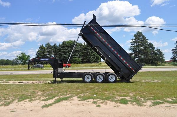 2019 Sure-Trac 7 x 16 Telescopic 21K G.N. Dump Trailer for Sale Dump Trailer
