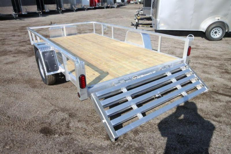 "2021 All Aluminum 80"" x 12' Single Axle Utility Trailer For Sale"