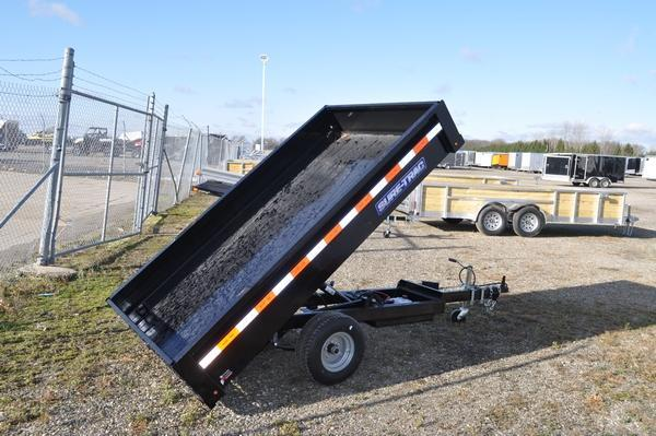2021 Sure-Trac 4.5 x 8ft Utility Dump Trailer