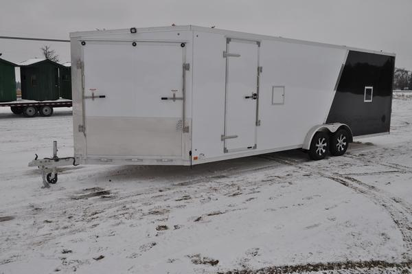 2020 Haul-it 7.5 x 29 All Aluminum Two Tone Enclosed Snowmobile Trailer For Sale