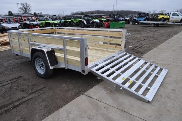 2021 Haul-it All Aluminum 6 x 10 Open 3 Board High Utility Trailer For Sale