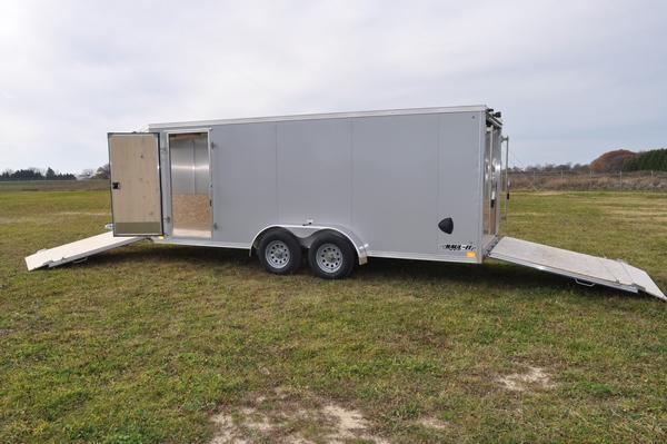 2021 Haul-it All Aluminum 3 Place 7 x 23 Inline Snowmobile Trailer For Sael
