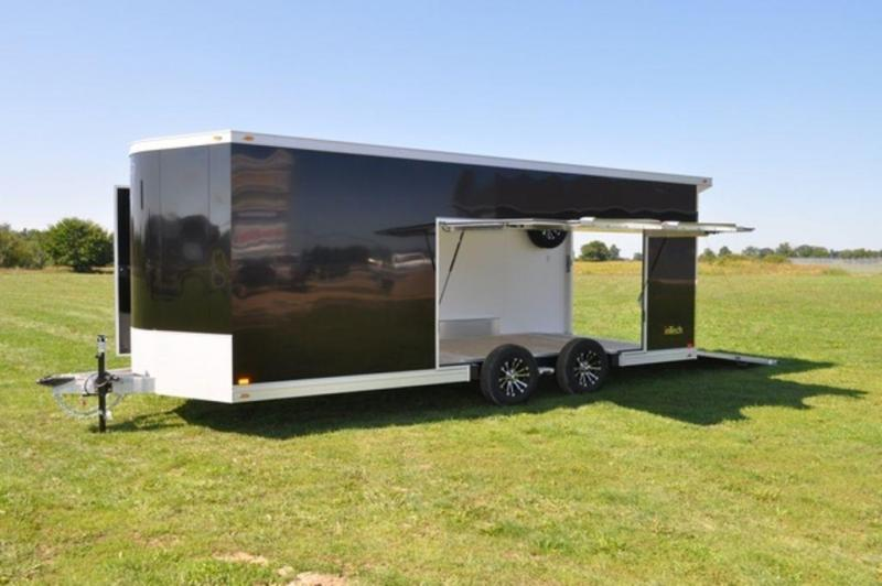 2019 inTech All Aluminum 8.5 x 22 Wedge Nose Car Trailer w/ Full Escape Door for Sale
