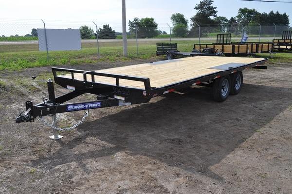 2020 Sure-Trac 8.5 X 20 Flat Deck Deckover  10K For Sale