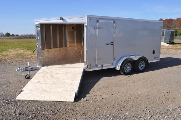 2021 Haul-it 7 x 19 All Aluminum 2 Place Snowmobile Trailer For Sale