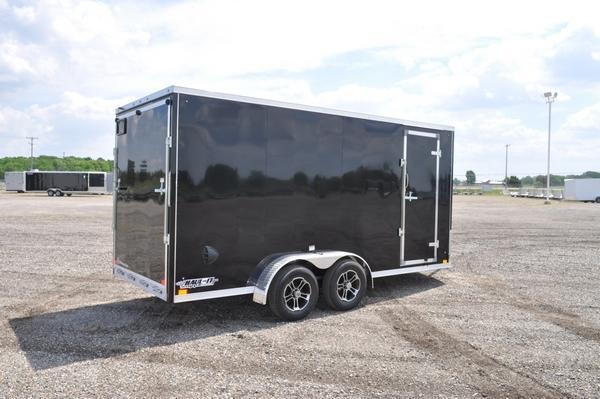 2022 Haul-it All Aluminum 7 x 16 Wedge Nose Enclosed Cargo Trailer For Sale