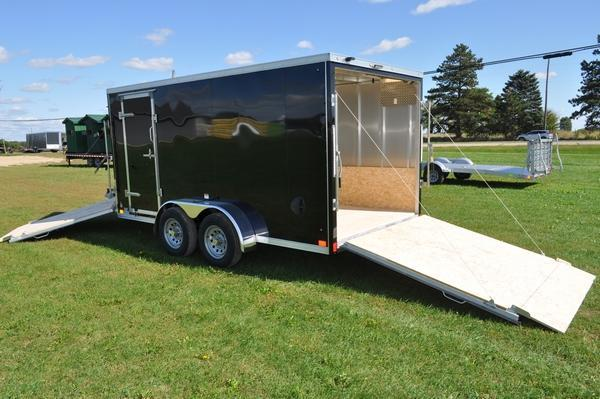 2020 Haul-it 7 x 19 Inline All Aluminum Snowmobile Trailer For Sale