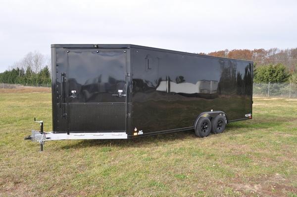 2021 Haul-it All Aluminum 8.5 x 20 + 5 Combo / Snowmobile Trailer For Sale