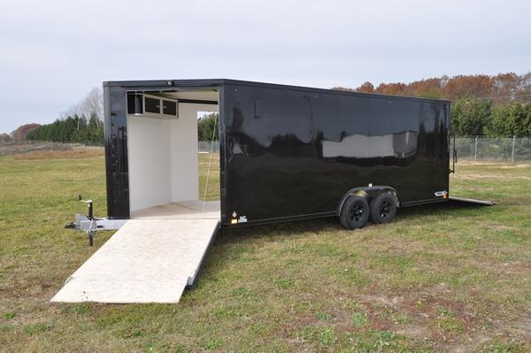 2021 Haul-it All Aluminum 8.5 x 20 + 5 Combo / Snowmobile Trailer For Sale