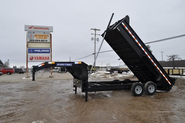 "2020 Sure-Trac 82"" x 16' Gooseneck Telescopic Dump Trailer For Sale"