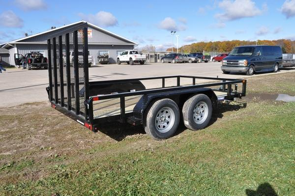 2021 Sure-Trac 7 x 12 Tube Top Utility Trailer  7K Tandem Trailer for Sale
