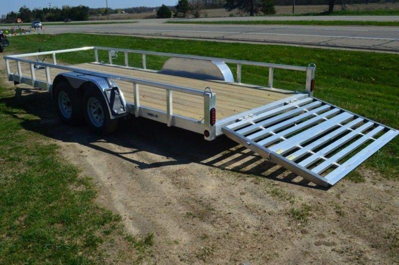 "2021 All Aluminum 80"" x 18' Tandem Axle Tube Top Utility Trailer For Sale"