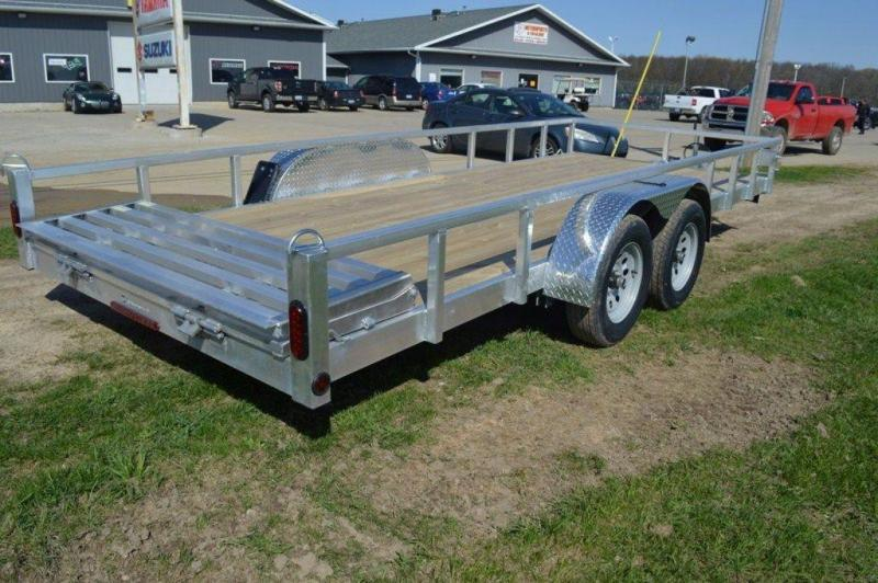 """2021 All Aluminum 80"""" x 18' Tandem Axle Tube Top Utility Trailer For Sale"""