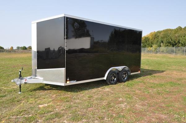 2021 Haul-it All Aluminum 8.5 x 16' Wedge Nose Enclosed Cargo Trailer For Sale