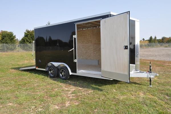 2021 Haul-it All Aluminum 8.5 x 16' Wedge Nose Enclosed Cargo Trailer For Sale