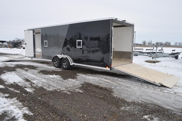 2021 Haul-it All Aluminum 7.5' x 31' Drive On/Off Snowmobile Trailer
