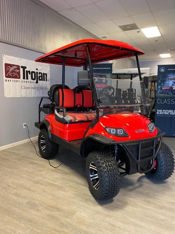 2020 ICON I40L Red/Black Golf Cart