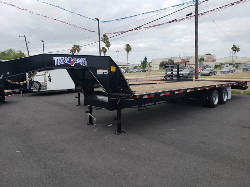 2021 Texas Bragg 35+5 Gooseneck Flatbed Trailer w/ XL Ramps