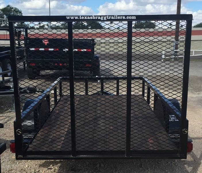 2020 Texas Bragg LD 6 x 12 Single Axle Utility Trailer