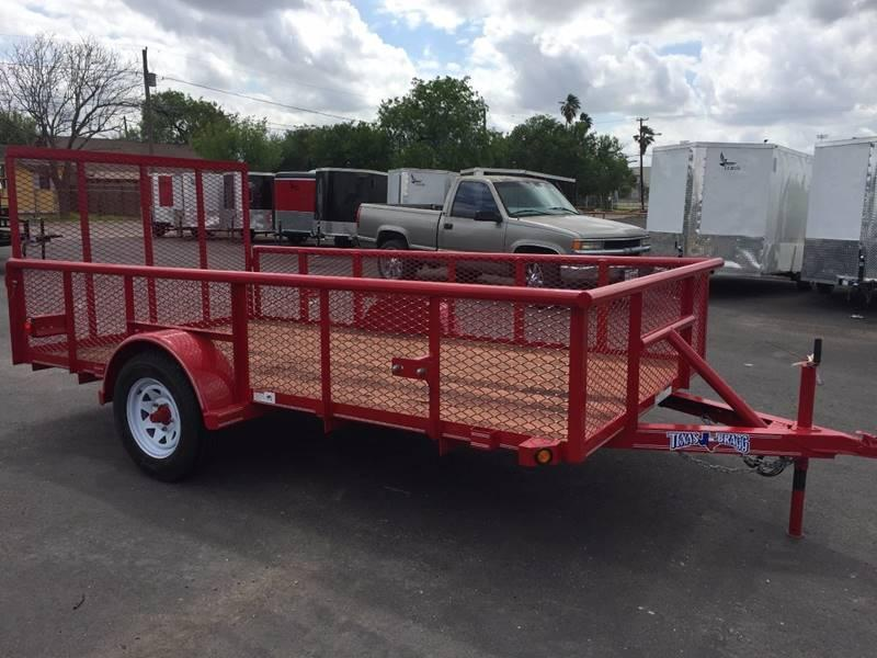 2019 Texas Bragg 6 x 12 Single Axle Pipetop Utility Trailer