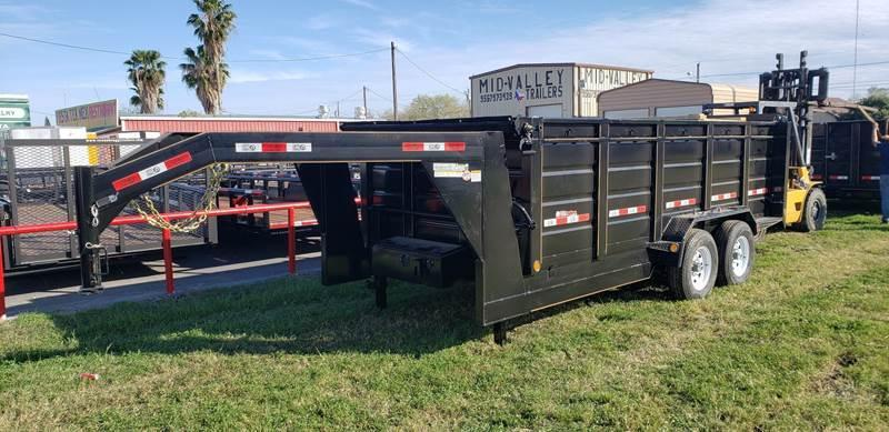 2021 GR Trailers 7 x 16 Gooseneck Dump Trailer