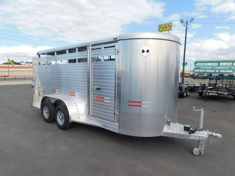 2018 W-W 16' Aluminum Stock Trailer
