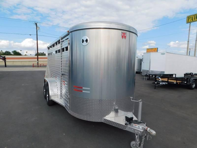 2021 W-W 16' Aluminum Stock Trailer