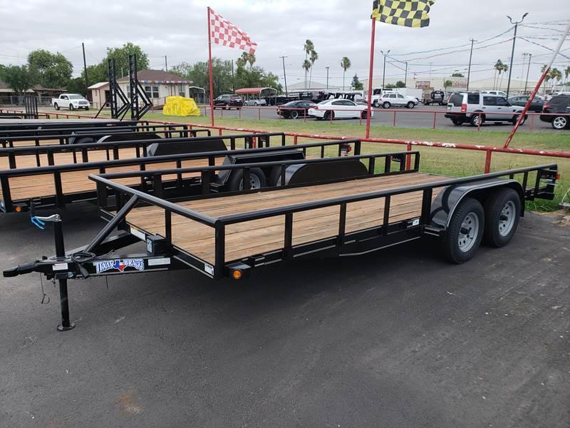 2019 Texas Bragg 7 x 16 Tandem Axle Pipetop Utility Trailer