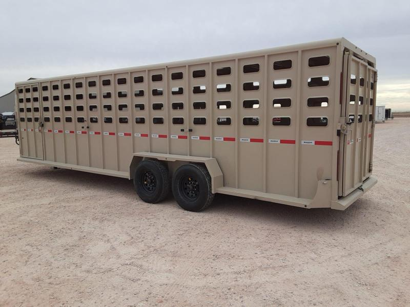 "2021 Maxxim Industries 28'x6'8"" Livestock Trailer"