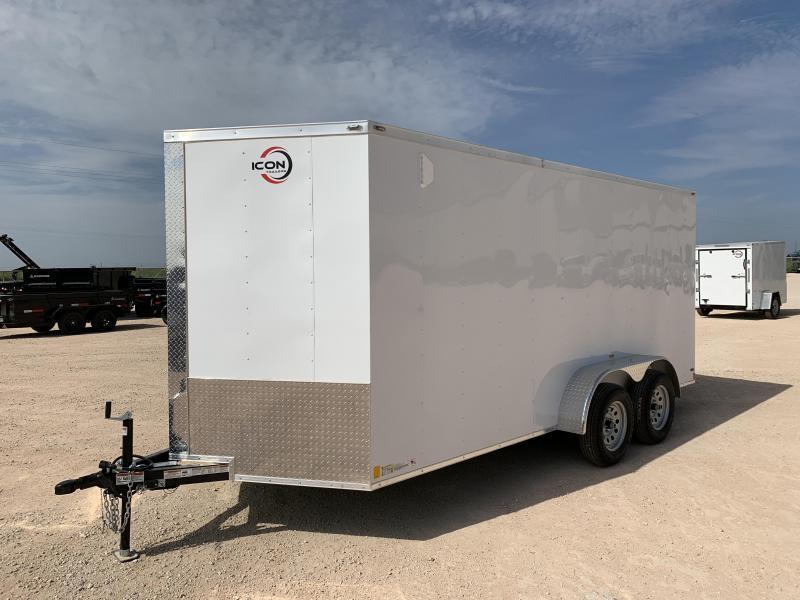2021 ICON 7' x 16' Enclosed Cargo Trailer