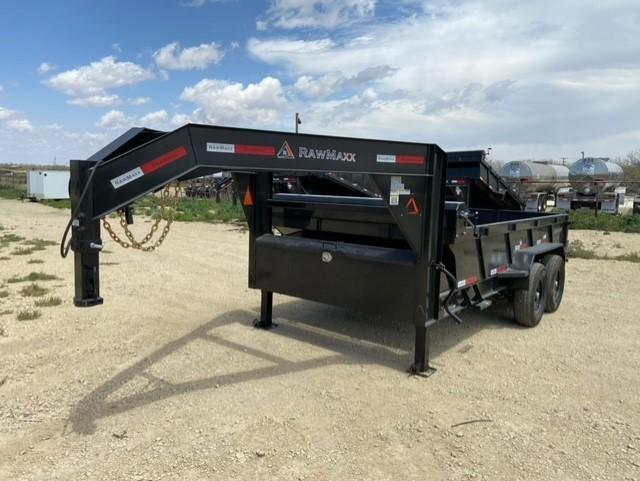 2021 RawMaxx 83x14 Gooseneck 14k Dump Trailer