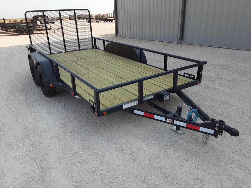 2021 ED Trailer Mfg 77x14 Tandem Axle Utility Trailer