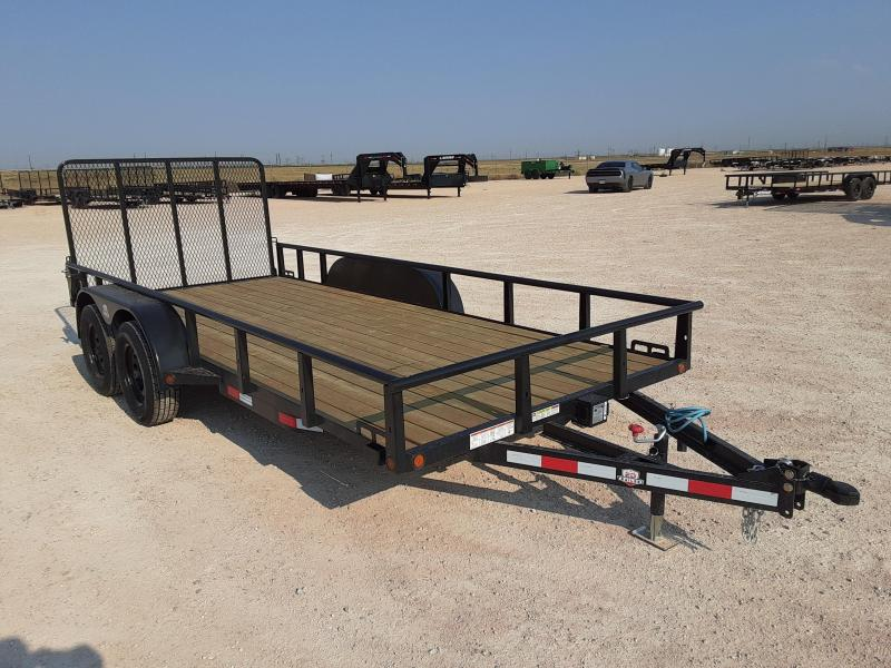 2021 Other ED Trailers 77x16 Tandem Axle Utility Trailer