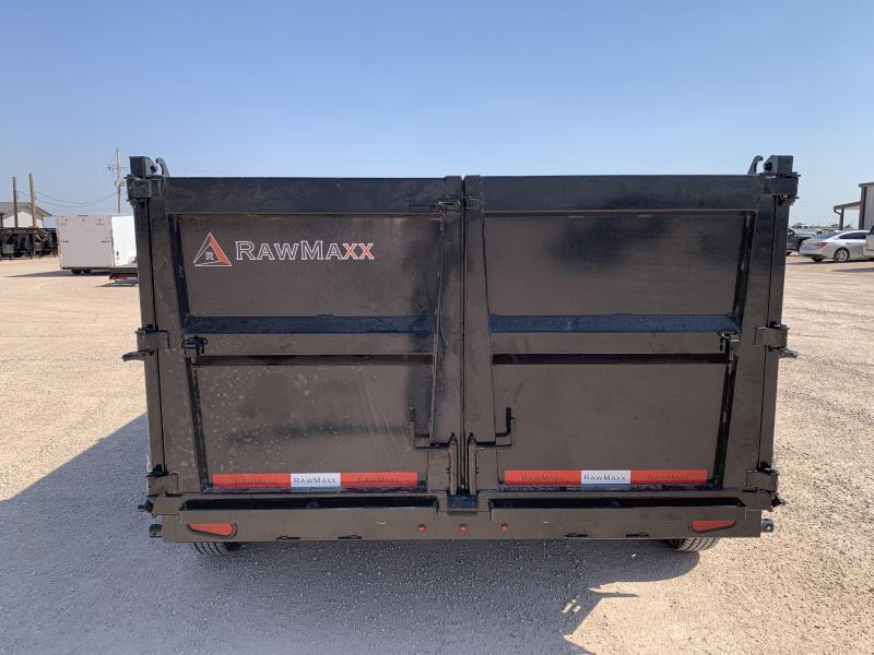 """2022 RawMaxx 83"""" x 12' Dump Trailer"""