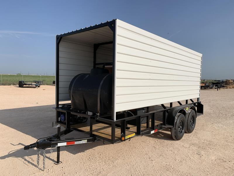"""00052 2021 76"""" x 16' Ademes Cool Down Trailer"""