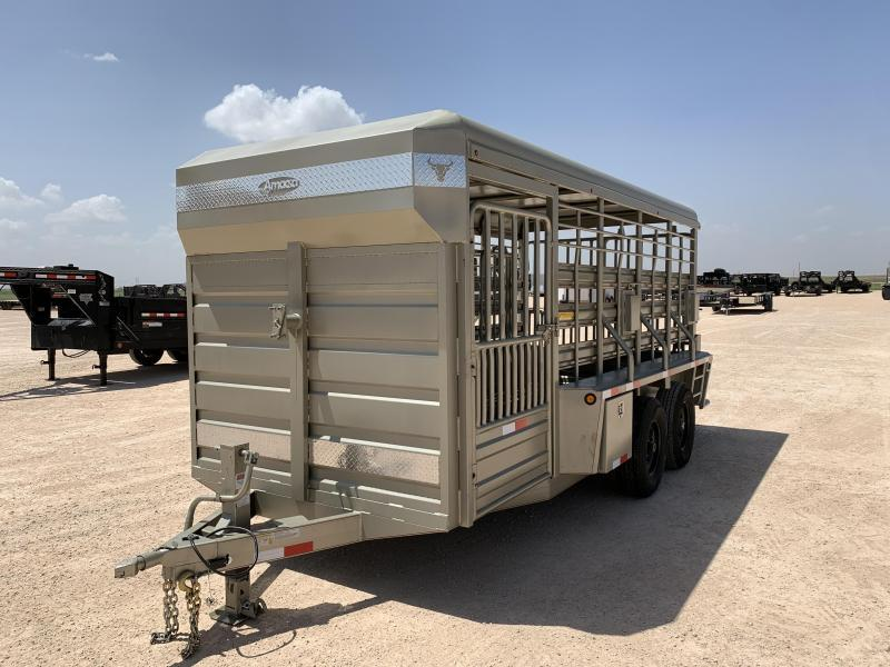"00056 2021 76"" x 16' Ademes Livestock Trailer"