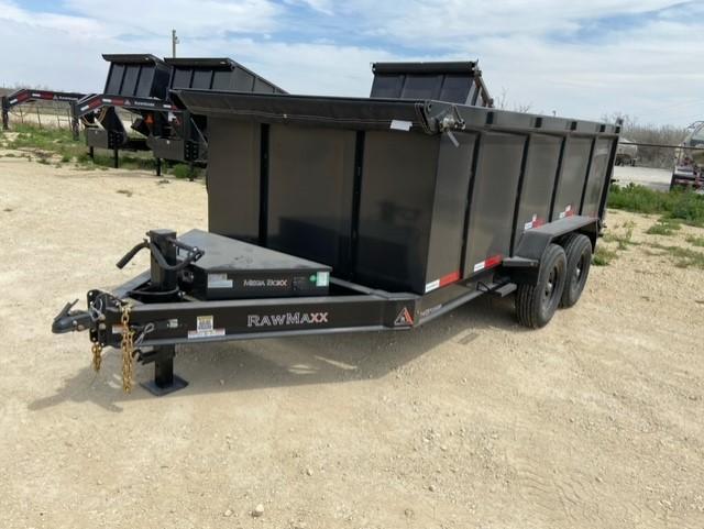 2021 RawMaxx 83X14 4ft side 14k Dump Trailer