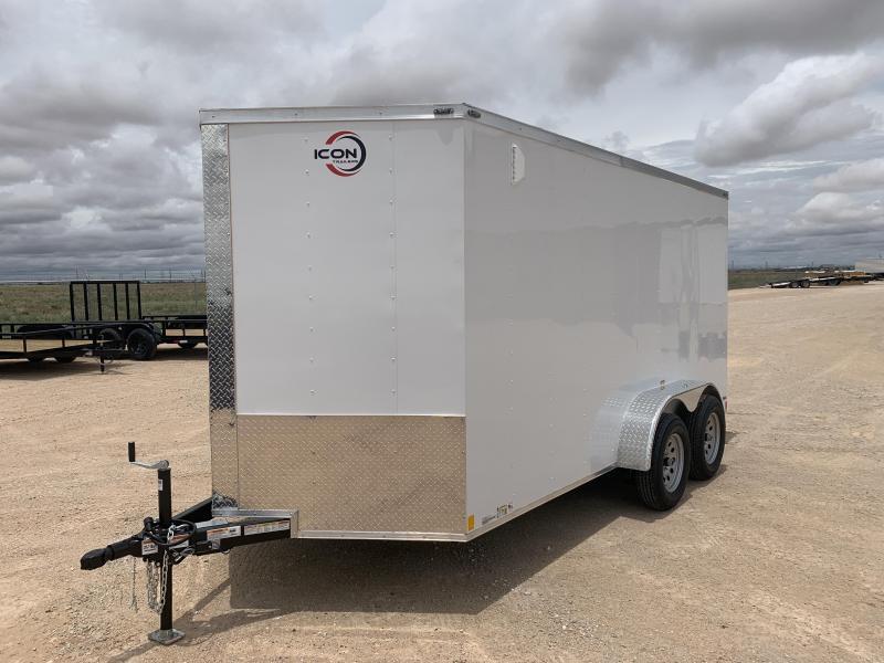00325 2021 ICON 7' x 14' Enclosed Cargo Trailer