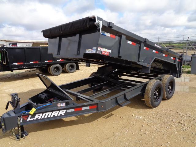 2021 Lamar Trailers DL 83X14 14K W/ DROP AXLES Dump Trailer