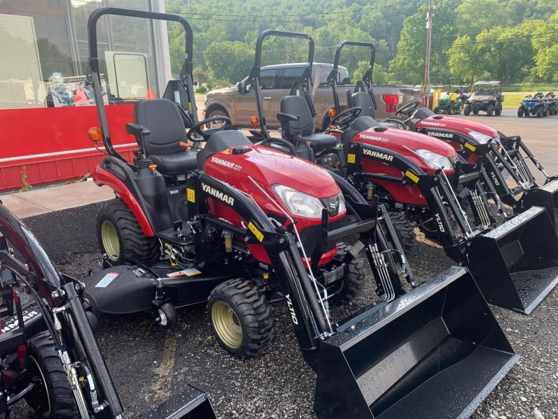 """2021 YANMAR SA221 Tractor with 60"""" MID MOWER and FRONT LOADER - 10 Year Powertrain Warranty"""