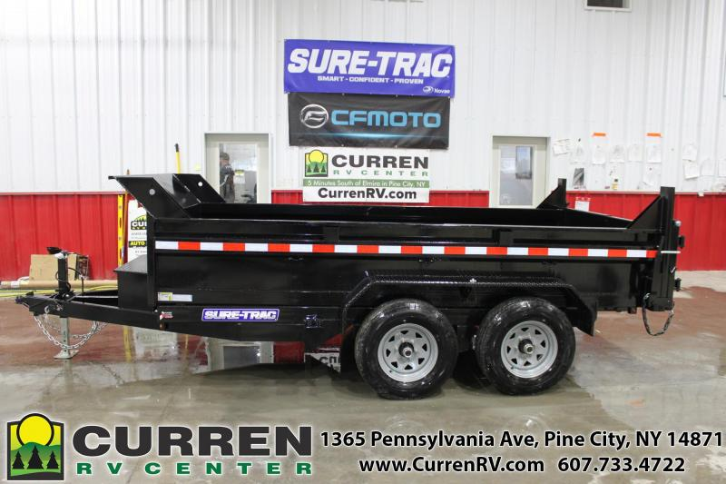 2021 SURE-TRAC 6x12 10k Low Profile Dump Trailer - Ramps - Combo Gate - ST7212D1R-B-100