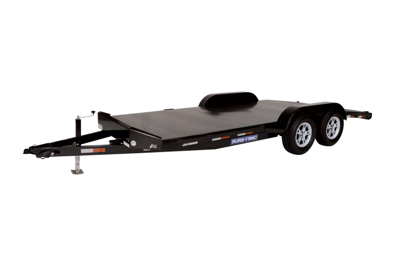 2021 SURE-TRAC 7x18 10k Steel Deck Car Trailer - ST8218CHS-B-100